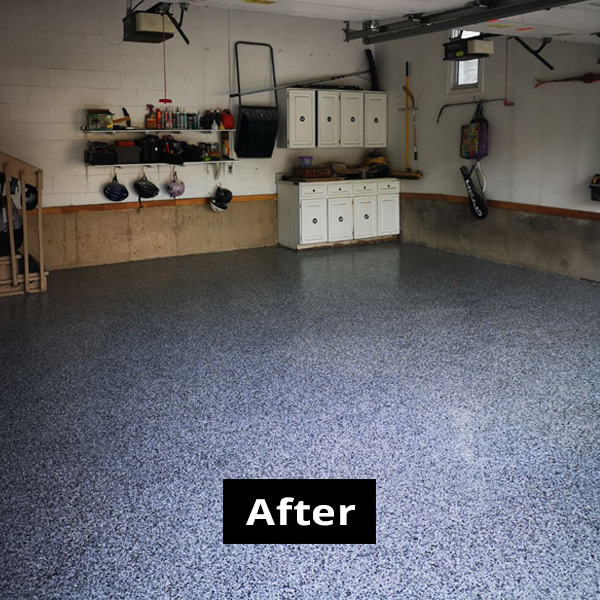 Garage photo 1 AFTER using RPM garage flooring services in Ottawa