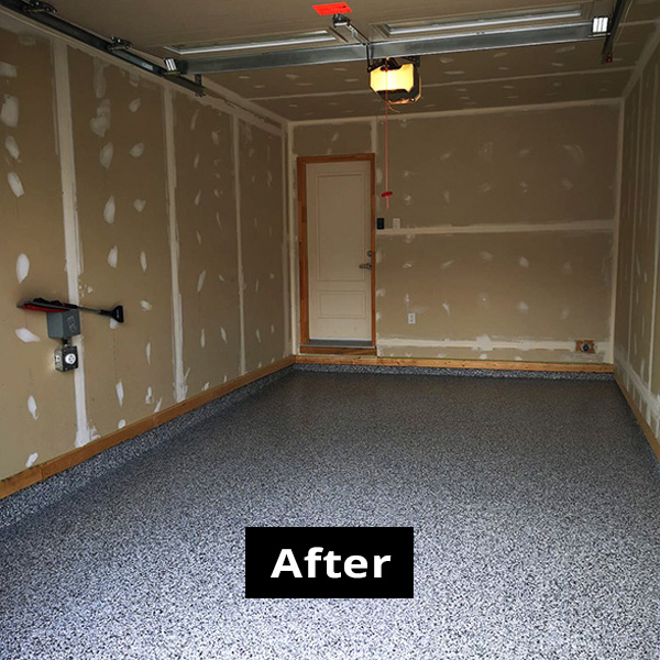 Garage photo 2 AFTER using RPM garage flooring services